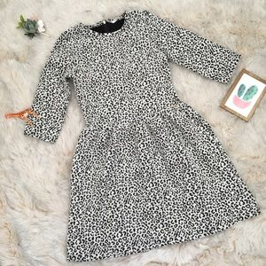 $10💝Guess leopard 3/4 sleeve fit & flare dress